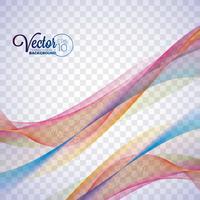 Elegantes vektorfließendes Farbwellendesign auf transparentem Hintergrund. vektor