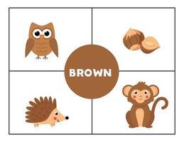Erlernen der Grundfarben für Kinder. vektor
