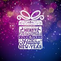 Frohe Weihnachten und Happy New Year Greeting Card vektor
