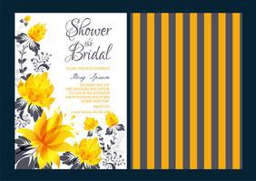 Vektor uppsättning inbjudningskort med blommor element Bröllopsamling