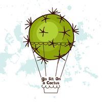 Motivzitat. Setzen Sie sich auf einen Kaktus