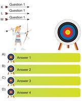 Bogenschütze und Pfeil Frage und Antwort leere Vorlage vektor