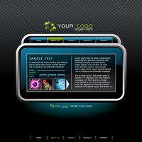 Ljus webbdesign mall.