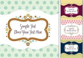 Romantisches Label Vector Pack