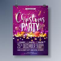 Frohe Weihnachten Party Flyer Illustration
