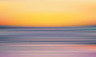 Sonnenuntergang Strand Unschärfe Szene Hintergrund vektor