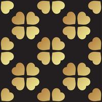 Goldnahtloses Muster mit Kleeblättern, das Symbol von St. Patrick Day in Irland vektor