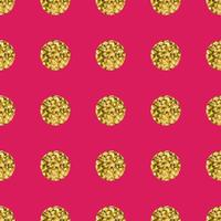 Mönster polka dot guld på rosa bakgrund.