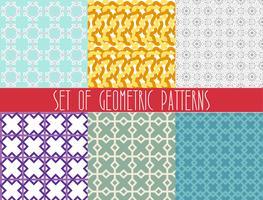 Moderner geometrischer nahtloser Mustersatz.