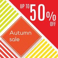 Orange Herbst-Sonderverkauf