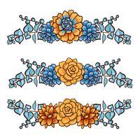Dekoratives florales Element von Sukkulenten vektor