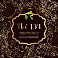 Tid att dricka te. Trendig affisch