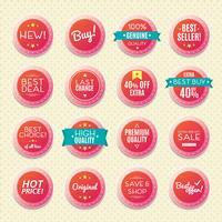 uppsättning vintage märken och etiketter,