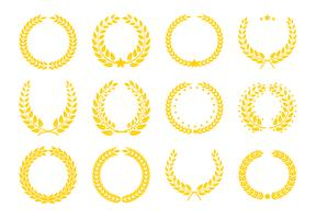 Champions-Trophäen-Symbole. vektor