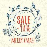 Weihnachtsverkauf Design Vorlage Web Banner