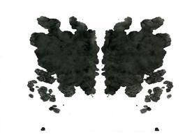 Zufälliger abstrakter Hintergrund des Rorschach-Inkblot-Tests