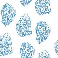 Seamless mönster med kristaller vektor