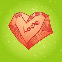 Rakad hjärta Passar till t-shirt tryck, vykort