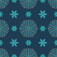 Seamless mönster av snöflingor