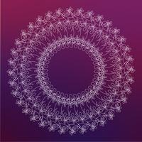 Runder Rahmen, floraler Rand vektor
