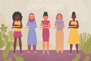Konzept zum Frauentag vektor
