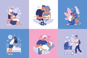 Designkonzept für die Schwangerschaft der Mutterschaft vektor
