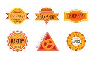Sammlung der Retro- Bäckerei der Weinlese