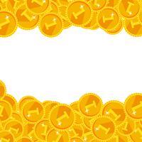 Varma guld festliga skina pengar vektor