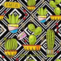Trend der Kaktusmuster vektor