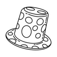 Clown-Mütze-Symbol. Gekritzel handgezeichnet oder Umriss-Icon-Stil vektor