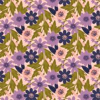 vektor handgjorda blommig bakgrund