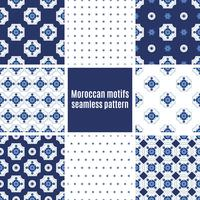 Portugiesische Azulejos-Reihe von Mustern vektor