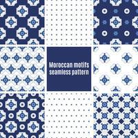 Portugisiska Azulejos uppsättning mönster vektor