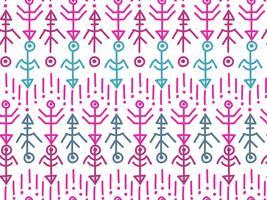 Ethnisches nahtloses Muster. Aztekischer Hintergrund.