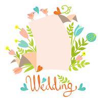 bröllop inbjudningskort mall