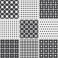 Sats monokrom geometriska sömlösa universella mönster, kakel.