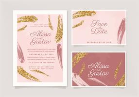 Vektor gemalte Hochzeitseinladung