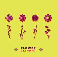 Blomma Clipart Vector