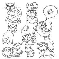 Set von niedlichen Katzen vektor