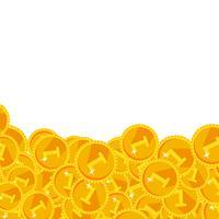 Warmes goldenes festliches glänzendes Geld