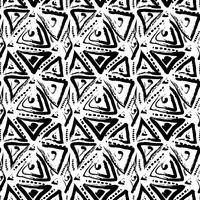 Handdragen målade sömlösa mönster. vektor