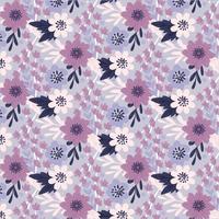 Vektor-Lavendel-nahtloses Muster vektor