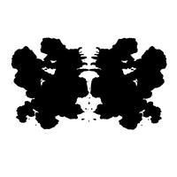 Rorschach inkblot test slumpmässig abstrakt bakgrund vektor