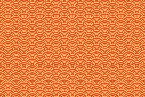 Orientalisches Seigaiha-nahtloses Muster. Vintage Hintergrund