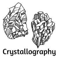 svarta och vita kristaller vektor