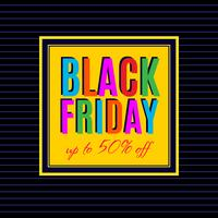 Svart fredagsförsäljning affischdesign vektor
