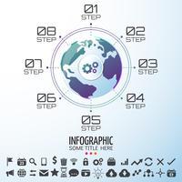 World Map Infographics Design Mall vektor