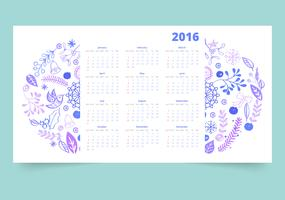 Kalender 12 Monate vektor