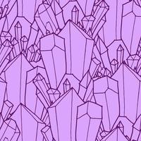 Nahtloses Muster mit Kristallen vektor