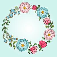 Blomram. för bröllopsinbjudningar och födelsedagskort